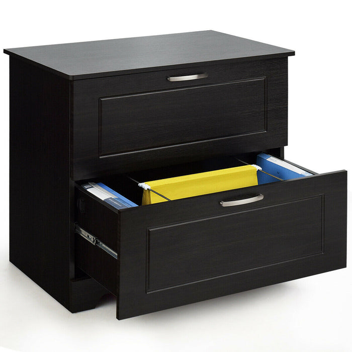 2-Drawer Lateral File Cabinet w- Adjustable Pole