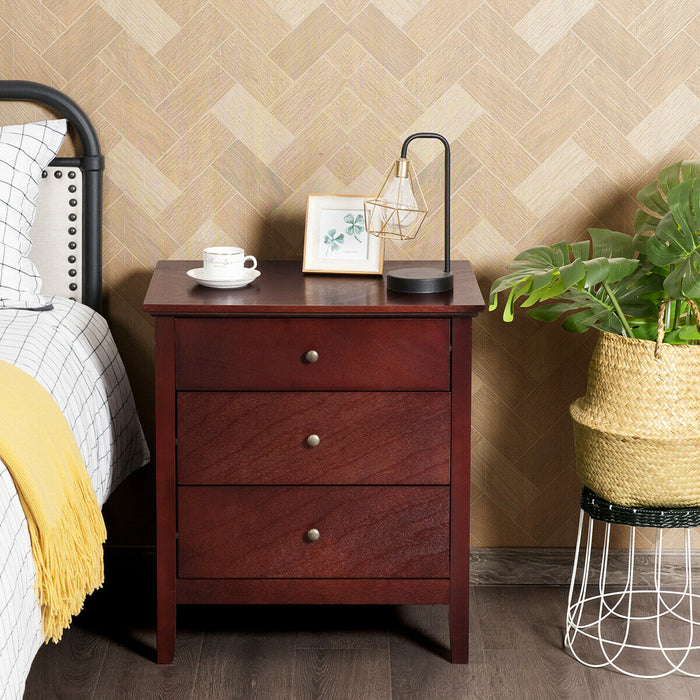 3 Drawers Nightstand Beside End Side Table Accent Table