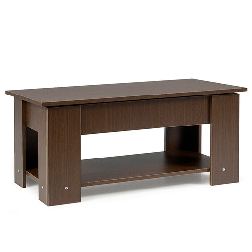 Coffee Table with Lift-up Desktop and Hidden Storage