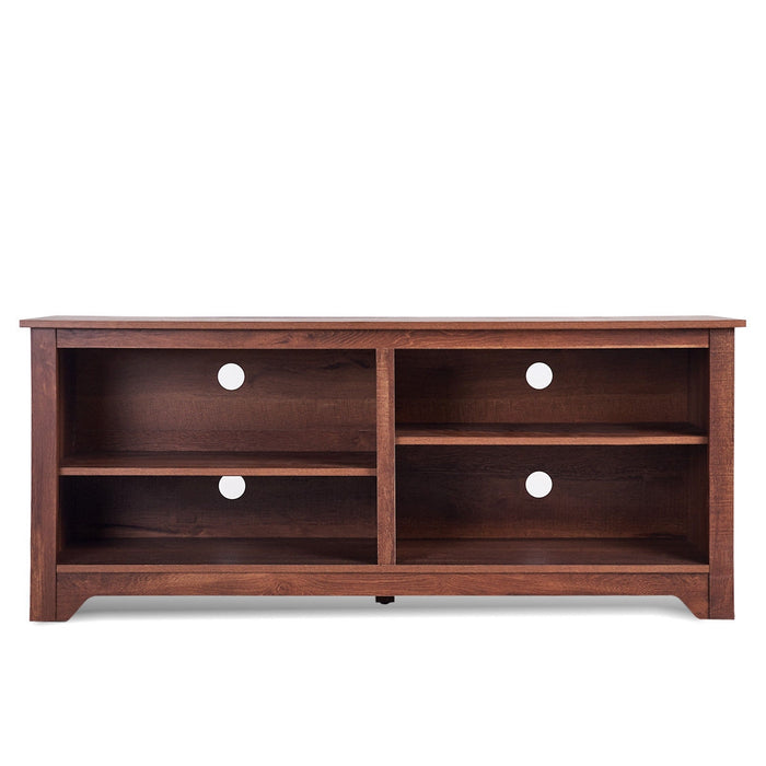 "58"" Entertainment Media Center Wood Storage TV Stand"