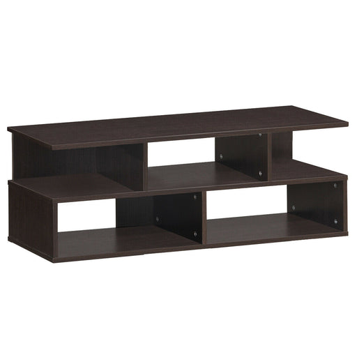 Entertainment Media Center TV Stand with Storage Shelves