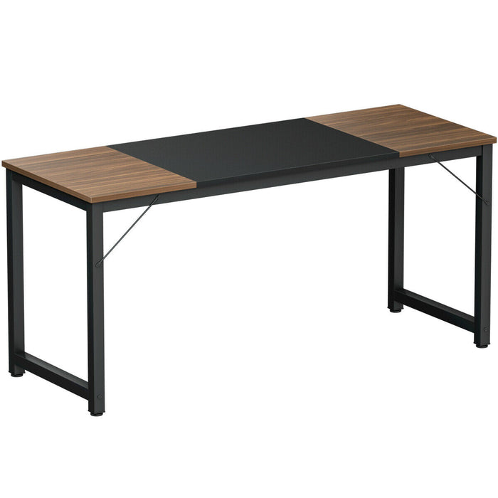 "63"" Rectangular Dining Room Table with Solid Metal Frame"
