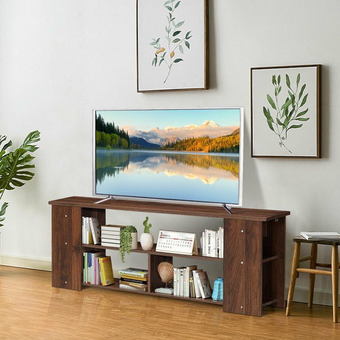 Wood Storage Cabinet TV Stand for TVs up to 50""