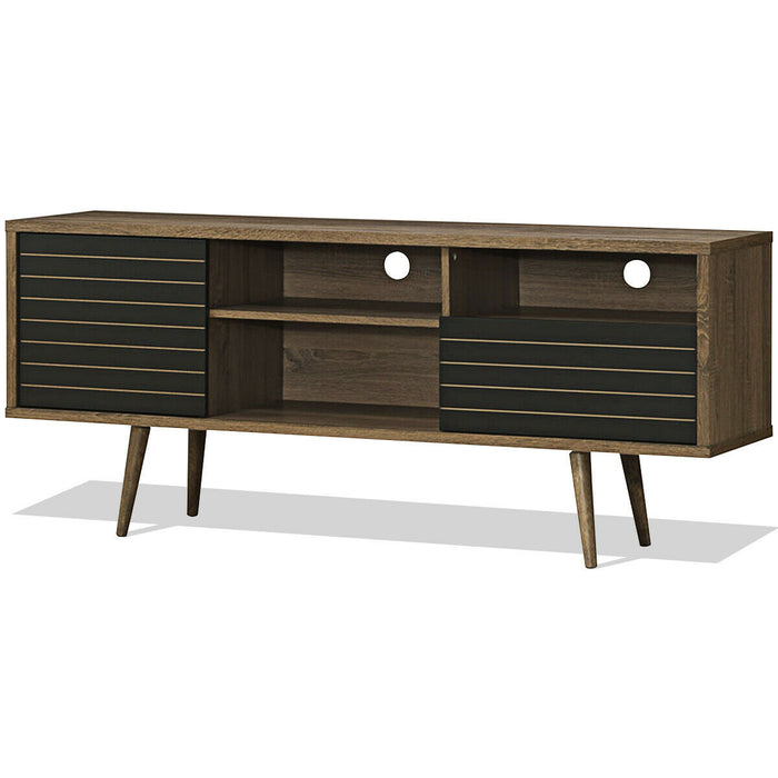 Modern TV Stand with 3 Shelves Storage Drawer