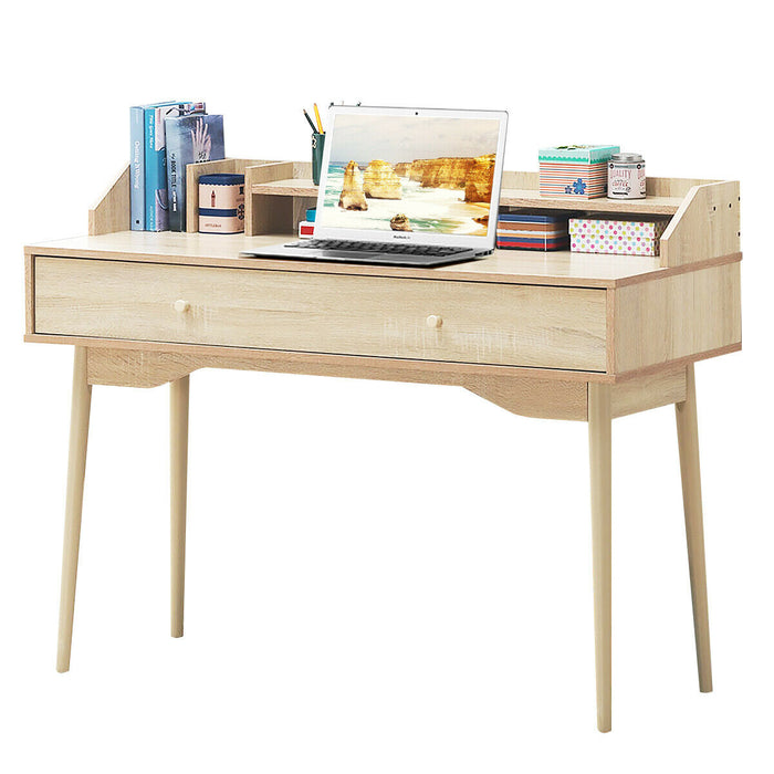 Writing Desk with Drawer Computer Wooden Desk