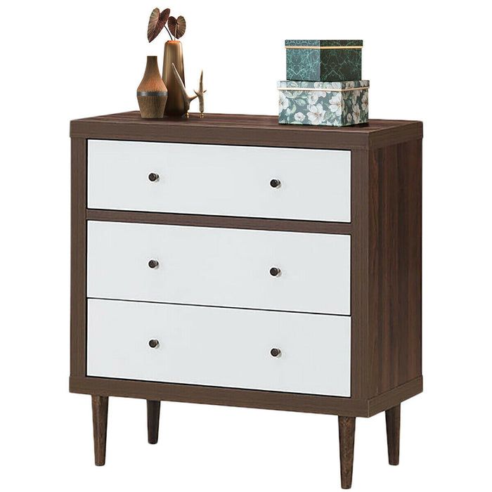 3 Drawer Dresser Wooden Chest Storage Freestanding Cabinet
