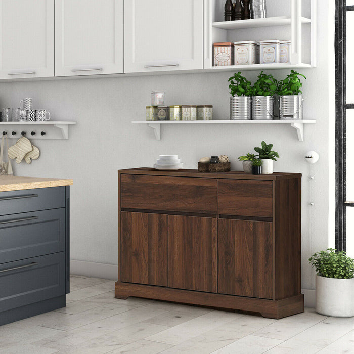 Buffet Sideboard Console Table Cabinet w-2 Storage Drawers