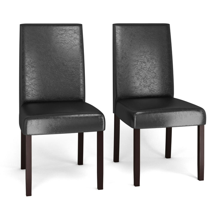 Set of 2  PU Upholstered Parsons Dining Chair