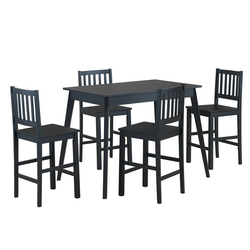 5 Pcs Counter Height Dining Set Kitchen Table