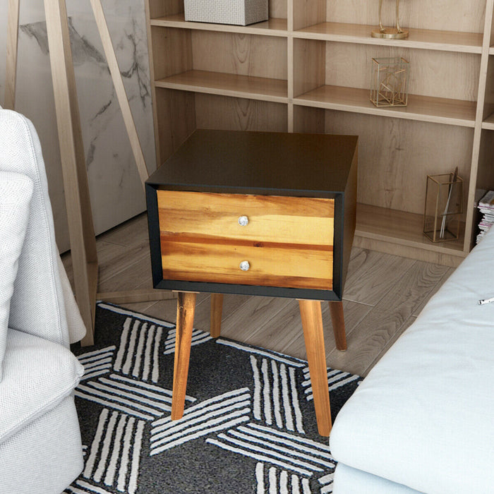 Nightstand Wooden End Table Bedside Table