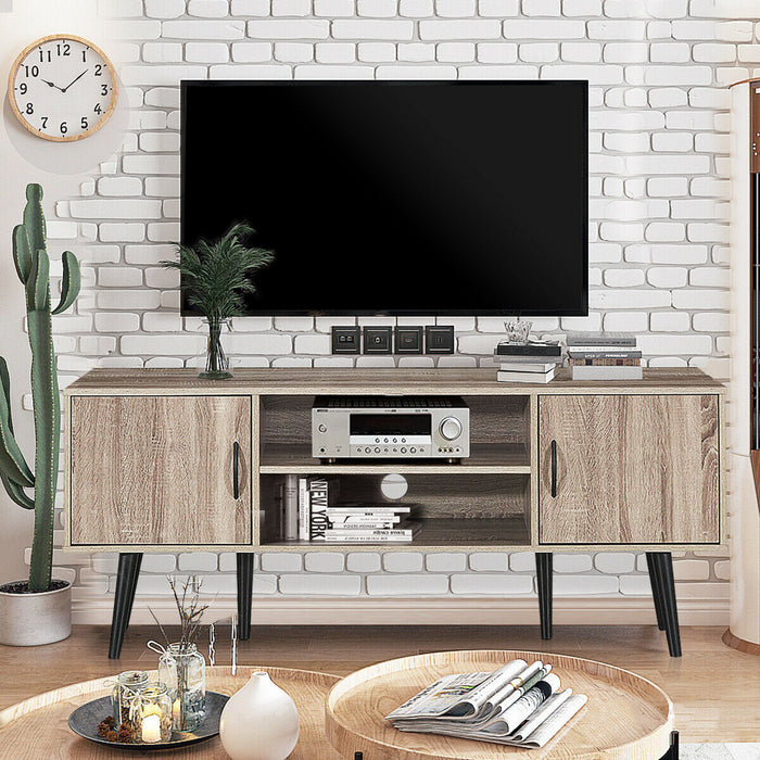 TV Stand w- 2 Storage Cabinets 2 Open Shelves