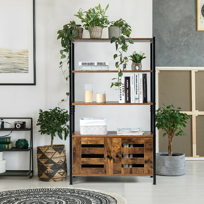 Industrial Storage Shelf w-2 Shutter Doors