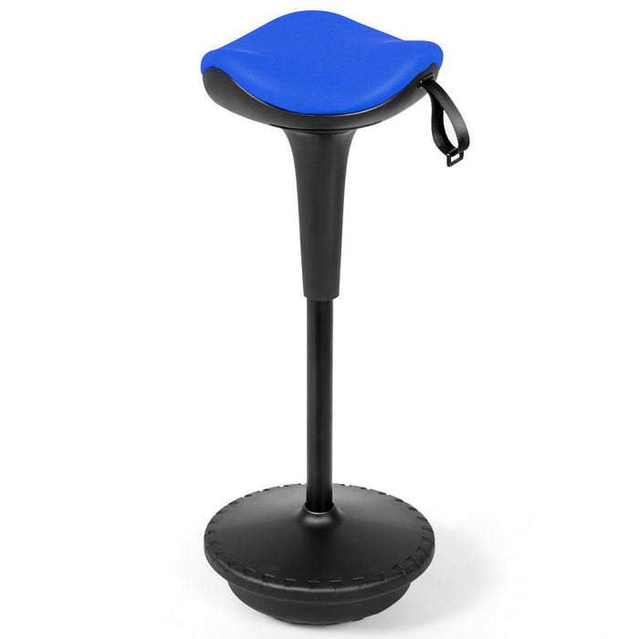 Adjustable Swivel Sitting Balance Wobble Stool Standing Desk Chair