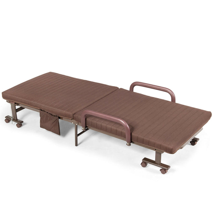 Adjustable Guest Single Bed Lounge Portable Wheels