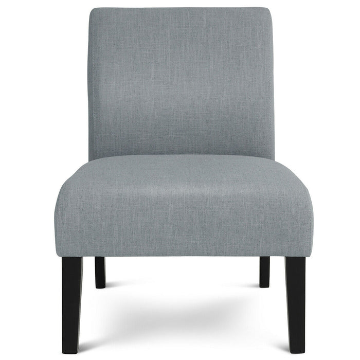 Modern Upholstered Armless Cozy Fabric Chair