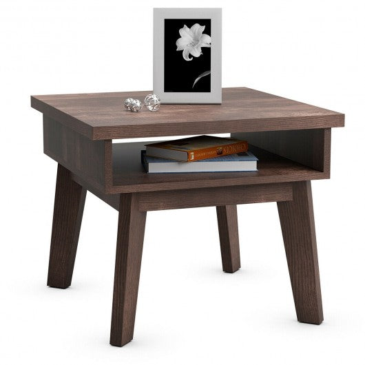2-Tier Nightstand Space-Saving Side Sofa End Table