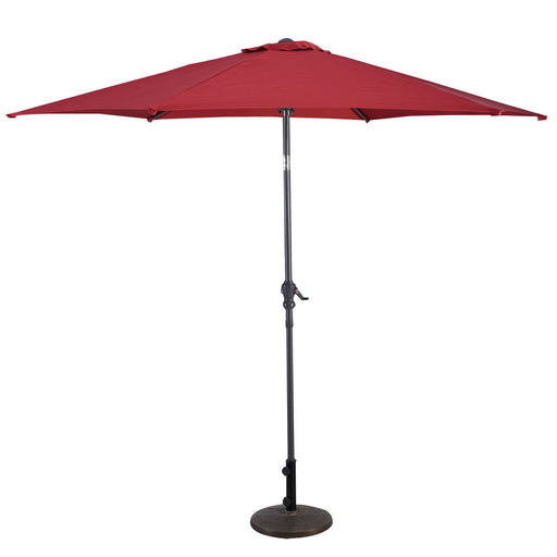 10 ft 6 Ribs Patio Umbrella with Crank
