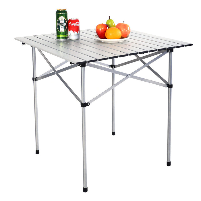 Roll Up Portable folding Camping Aluminum Picnic Table