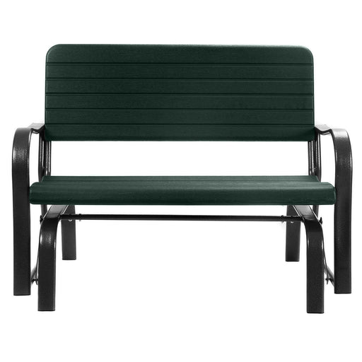 Outdoor Patio Steel Swing Bench Loveseat