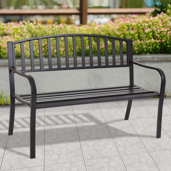 "50"" Patio Garden Bench Park Yard Outdoor Furniture"