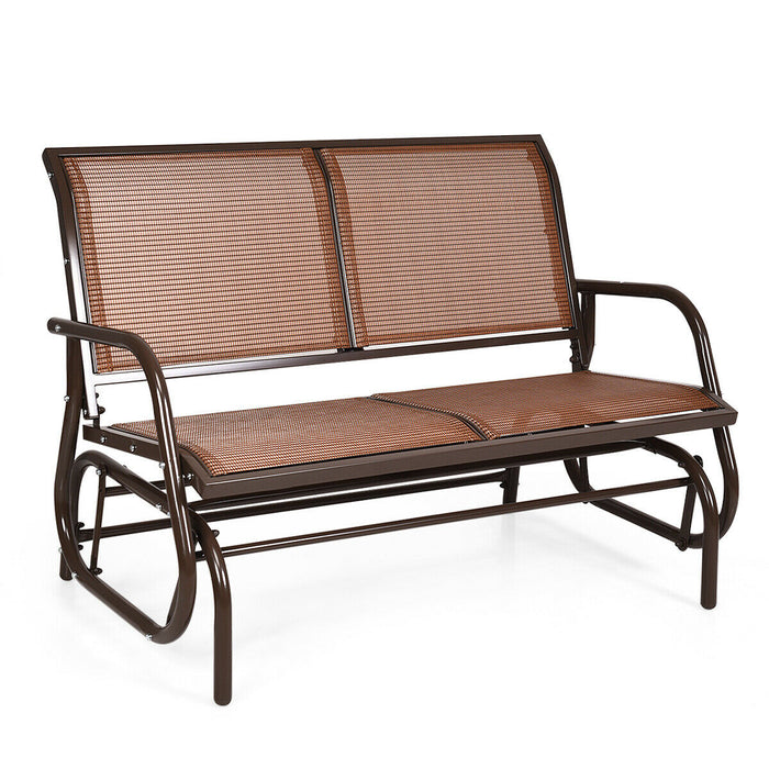 "Swing Glider Chair 48"" Loveseat Rocker Lounge Backyard"