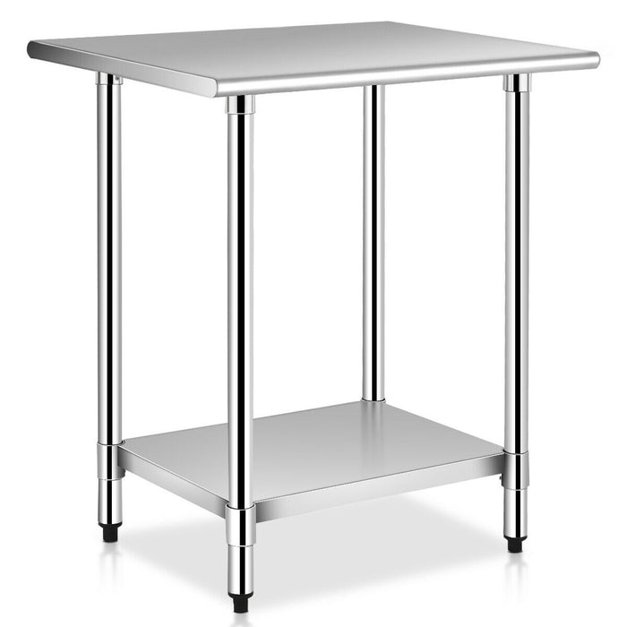 "24"" x 30"" Stainless Steel Commercial Kitchen Work Prep Table"