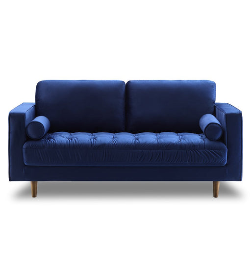 Bente Tufted Velvet Loveseat 2-Seater Sofa - Blue