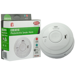 EIB3016 - Mains powered Photoelectric Smoke Alarm with built-in rechargeable, non-removable, non-replaceable, life-of-Alarm 10-yr lithium back-up battery and AudioLINK® data extraction