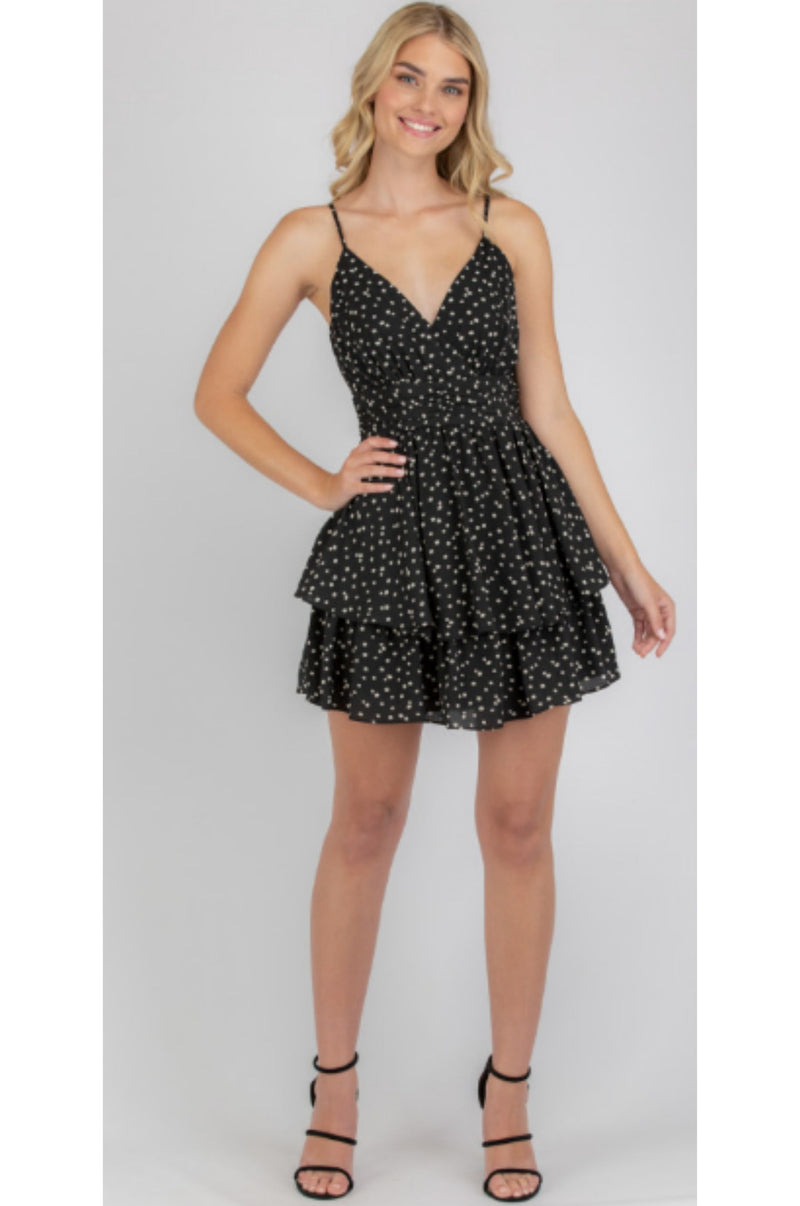 Jasmine Mini Dress Black