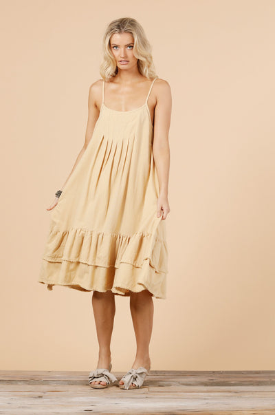 Pollyana Dress - Wheat