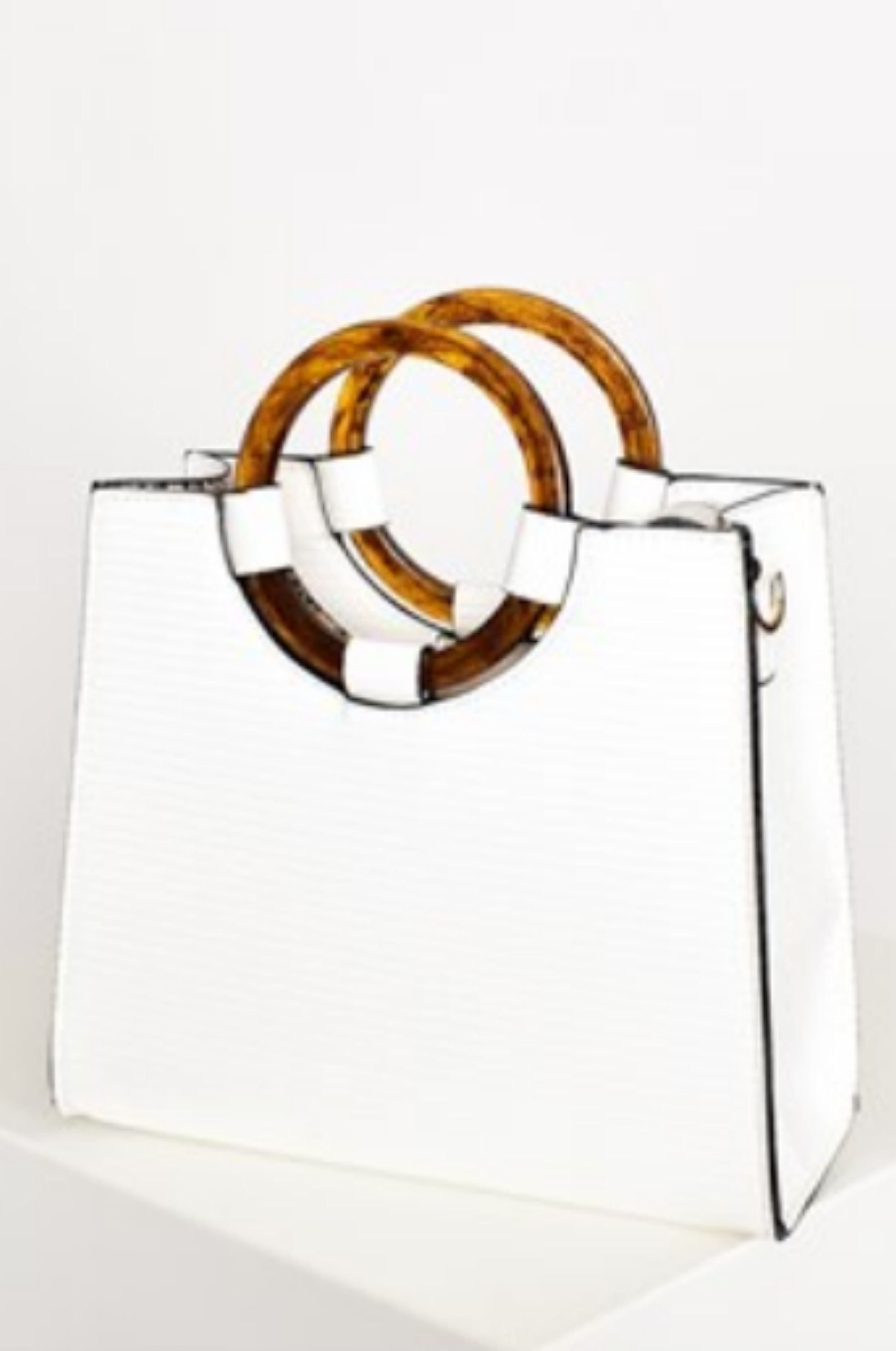Raluca Tortoise Shell Bag White