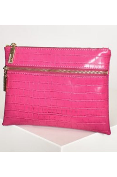 Double Zipper Croc Clutch