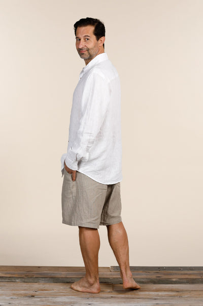 Oxford Linen Shirt White