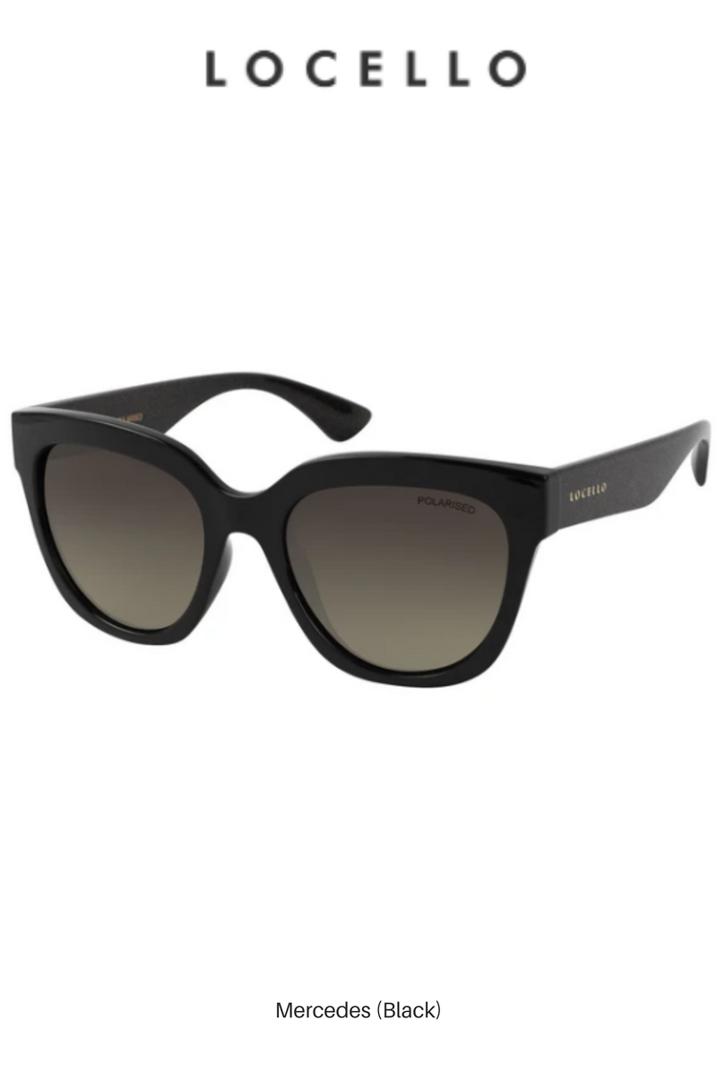 Mercedes (Black) - Locello Sunglasses