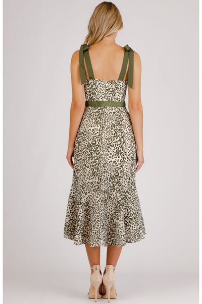 Jacinda Leopard Print Dress