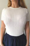 Bianca Knit Top - White