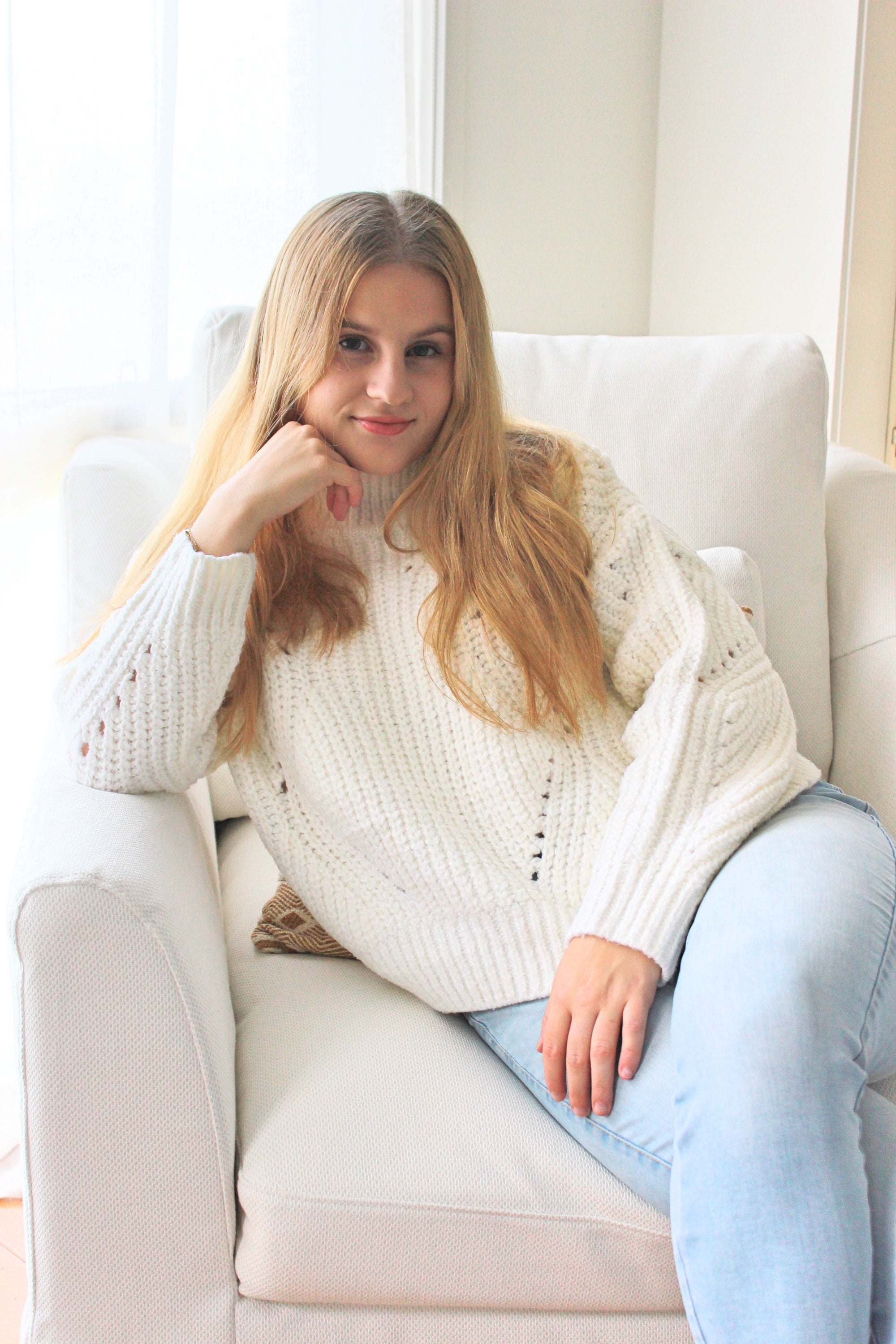 Catalina Chunky Knit -  White