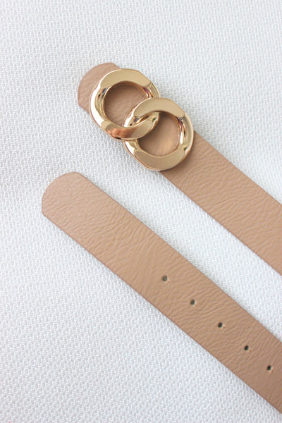 Infinity Circle Belt - Nude