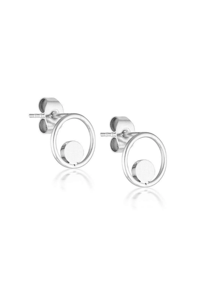 Aaina - Mini Circle of Life Hoops - Silver