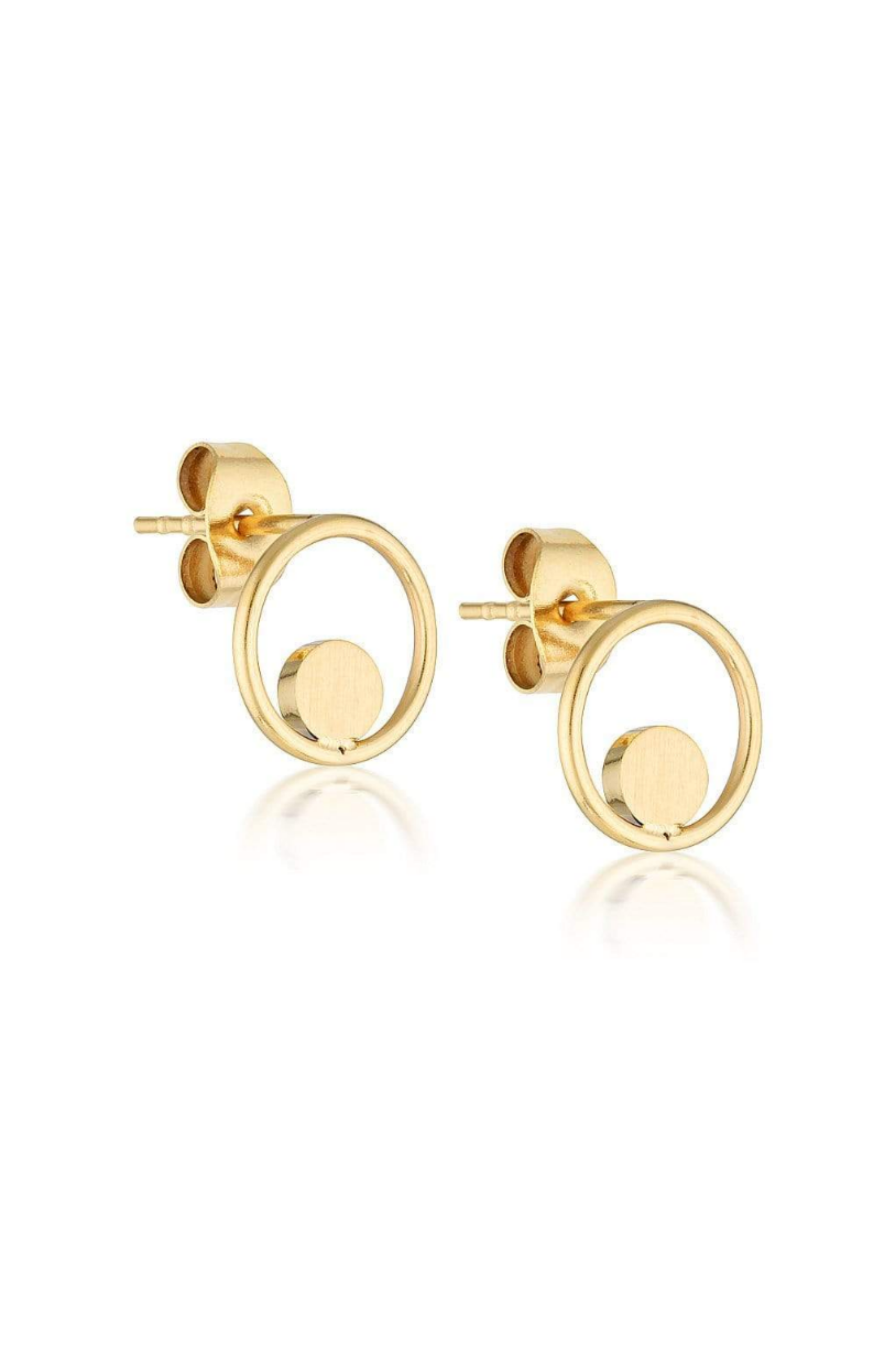 Aaina - Mini Circle of Life Hoops - Gold