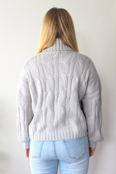 Niki Cable Knit - Grey