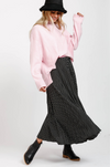 Ruby Pleated Skirt - Black