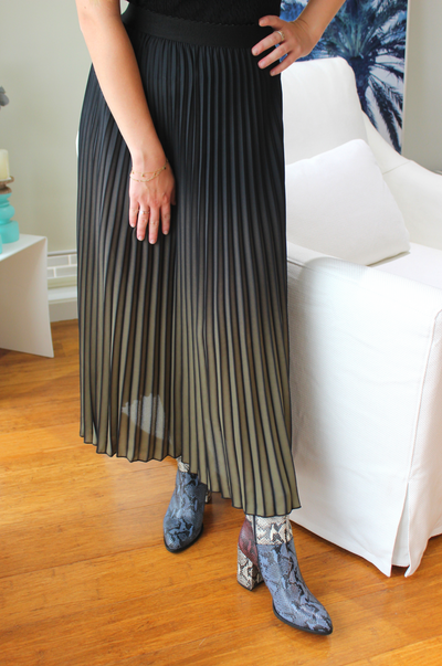 Valerie Pleated Skirt - Khaki