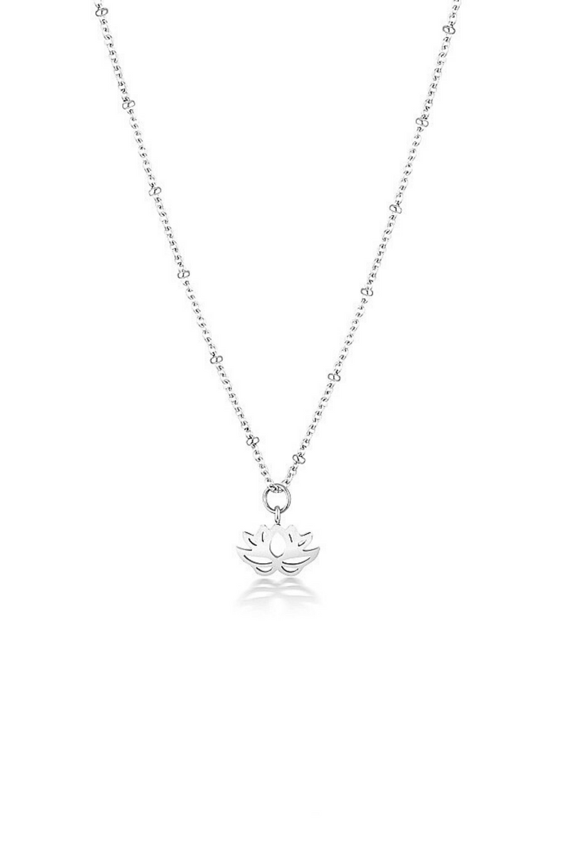 Aaina - Lotus Ball Short Necklace in Silver