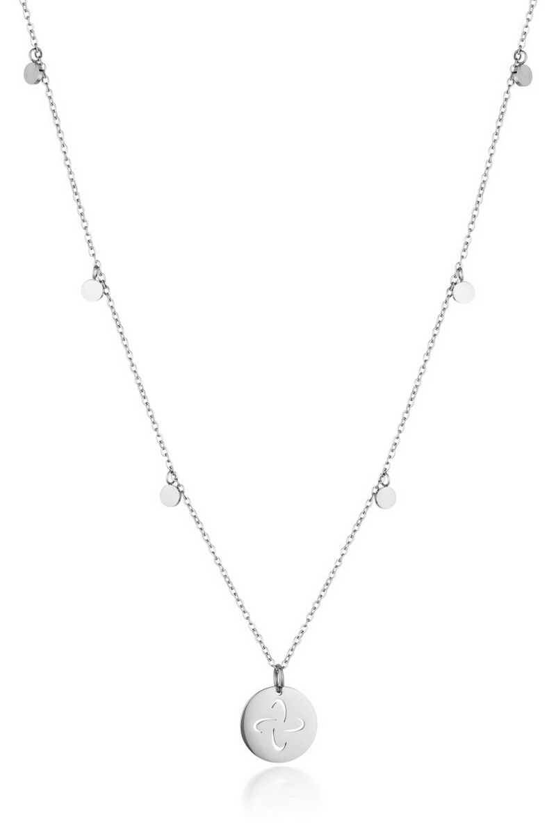 Aaina - Tabono Plates Necklace in Silver