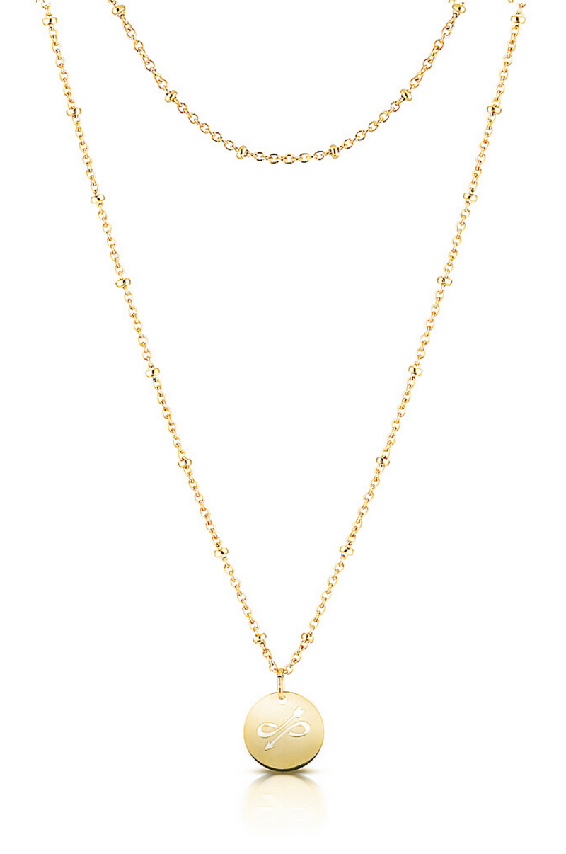 Aaina - Yellow Gold Swedish Malin Ball Necklace