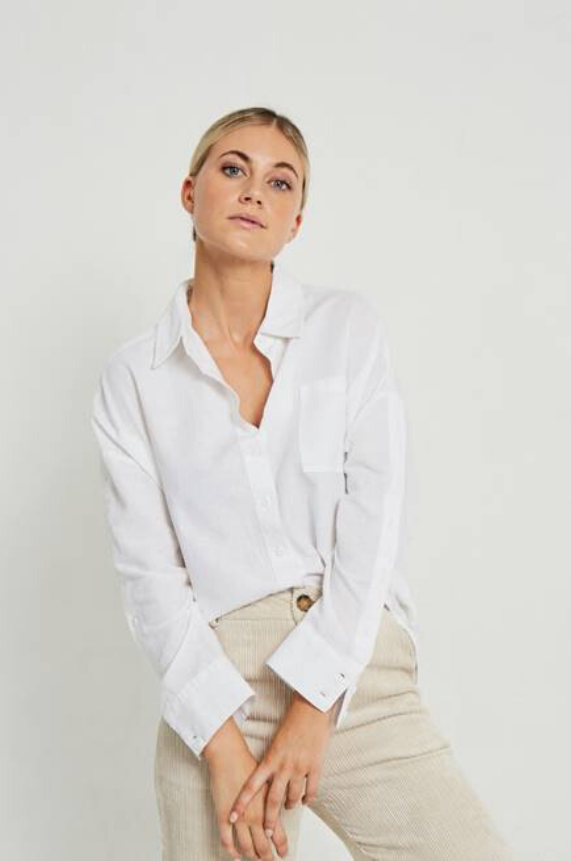 Margarita Buttoned Shirt White