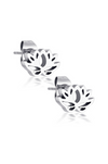 Aaina - Silver Lotus Studs