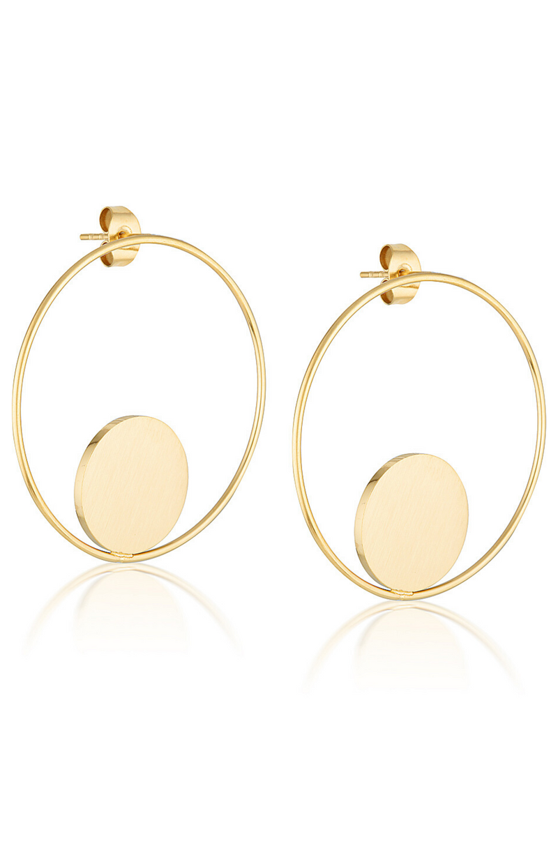 Aaina - Circle of Life Hoops in Gold
