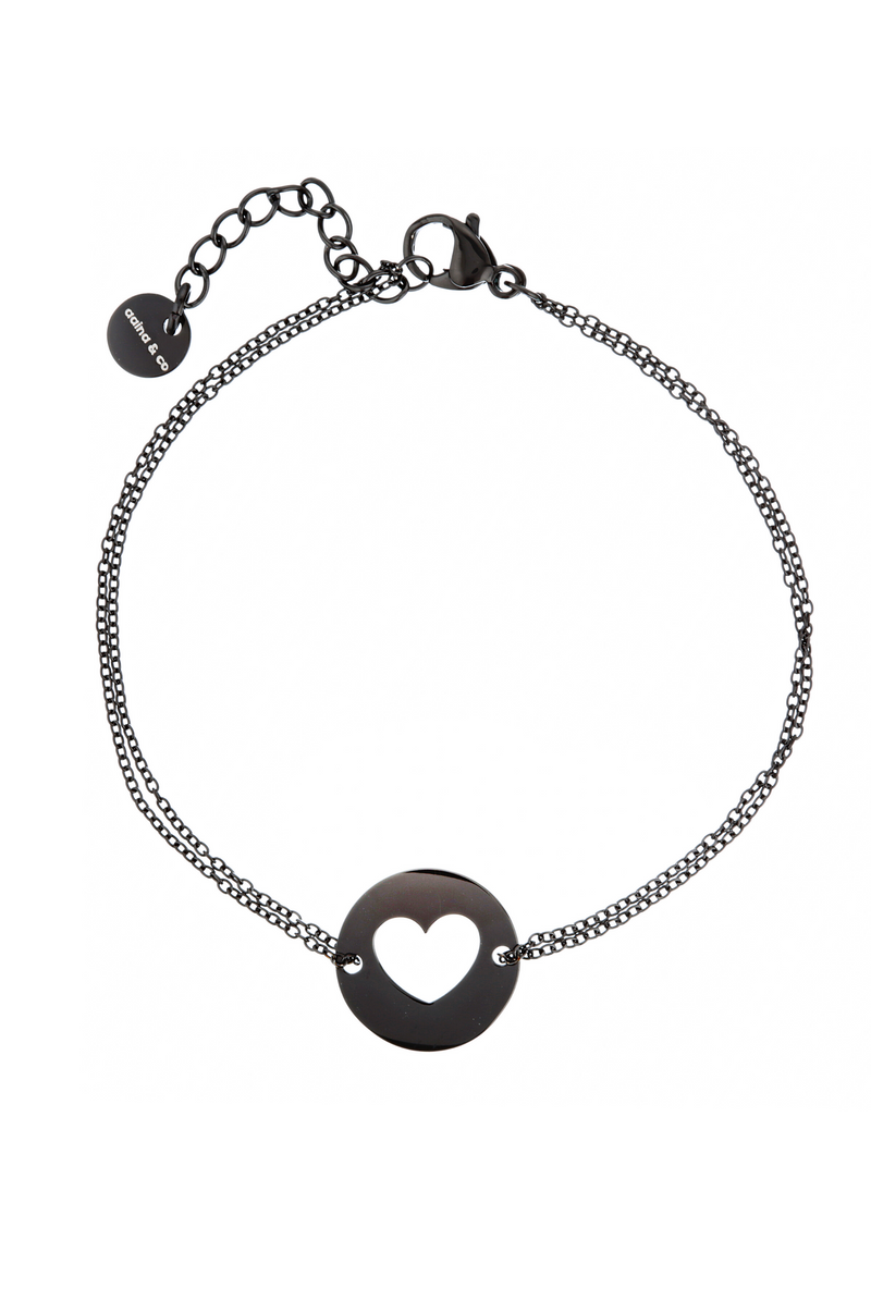 Aaina - Silver Heart Diamond Cut Bracelet